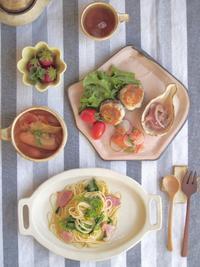 春色パスタ - 陶器通販・益子焼 雑貨手作り陶器のサイトショップ 木のねのブログ