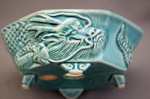 彫刻鉢 - 雨宮園 ☆~盆栽・山野草・陶芸~☆趣味が仕事でも・・・。