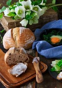 3月のパン教室は、カンパーニュ - ゆきなそう  猫とガーデニングの日記