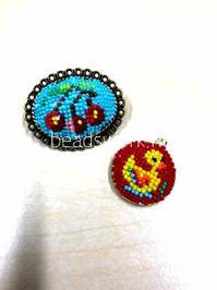 プラナカンビーズ刺繍 生徒様の作品 続き - プラナカンビーズ刺繍  ビーズワークと旅