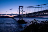 鳴門大橋夜明け - toshi の ならはまほろば