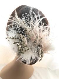 優しい空気をまとったお花のヘッドドレス - プリザーブドフラワーアレンジメント制作日記