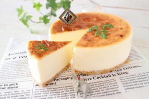 (レシピ)とろ~り感動の半熟チーズケーキ - おうちカフェ*hoppe