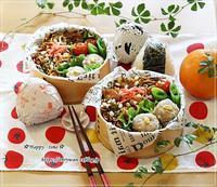 W炭水化物弁当とムスカリとわんこ♪ - ☆Happy time☆