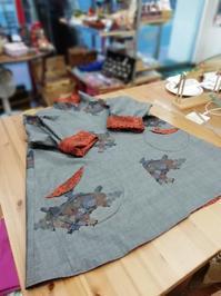 大島紬のリバーシブルコート - warmheart*洋服のサイズ直し・リフォーム*