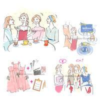 ゼクシィweb記事イラスト--ブライダルメイド - 女性誌を中心に活動するイラストレーター ★★清水利江子の仕事ブログ
