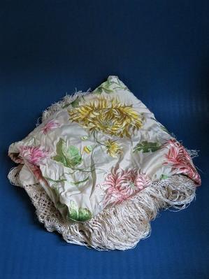 マニラ刺繍のシルクショール - 友くんのパリ蚤の市散歩