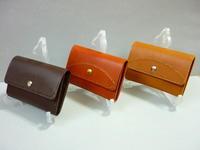 究極のシンプル・・・ミニ財布チョコは明日3/22旅立つ - 革小物 paddy の作品
