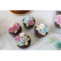 フラワーカップケーキ - cuisine18 晴れのち晴れ