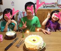 誕生日のシフォンケーキ - *Smile Handmade* ~スマイルハンドメイドのブログ~