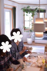 ◆【レッスンレポート】後半戦はリビングで♪赤ちゃんと一緒のにぎやかレッスン - フランス雑貨とデコパージュ&ギフトラッピング教室 『meli-melo鎌倉』