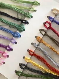 次の作品のための刺しゅう糸 / カップヌードルミュージアム - y-hygge