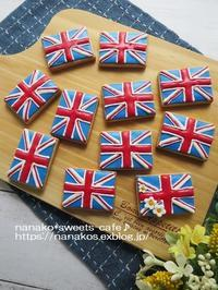 ユニオンジャックのアイシングクッキー - nanako*sweets-cafe♪