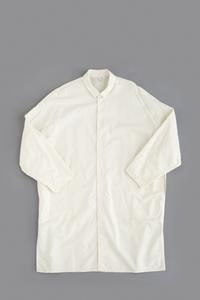 FIRMUM20S Rough Cotton Sheeting Shirt Coat (Natural) - un.regard.moderne