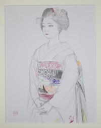 2010.4先斗町市福さんのデッサン - 黒川雅子のデッサン  BLOG版