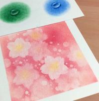 もうすぐ桜の季節。体験会用に試作しました - デザインのアトリエ絵くぼ