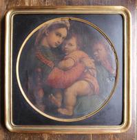 小椅子の聖母 複製画 47.5cm×48cm /G156 - Glicinia 古道具店