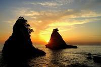 雀島からの夕景2019-03-07更新 - 夕陽に魅せられて・・・