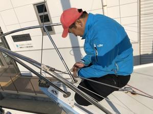 船底掃除と整備 - Siesta Sailing Team