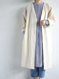 SEEKER x RETRIEVERTwo-way light coat / Natural - 『Bumpkins putting on airs』