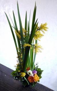 新体操の発表会にアレンジメント。ふしこ地区センターにお届け。2019/03/24。 - 札幌 花屋 meLL flowers