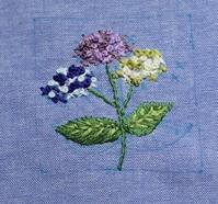 初夏のハンカチ刺繍 - Yumiko Sakura Embroidery