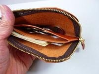 通学 通勤ちょっとの買物・・L字ファスナー・ミニ財布 - 革小物 paddy の作品