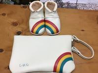 虹のベビーシューズ&母子手帳ポーチ - jiu sandals & baby shoes