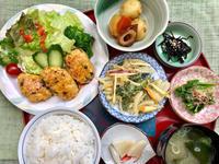 鶏つくねの照り焼き★(^^♪・・・・・700円ランチ - 日だまりカフェ