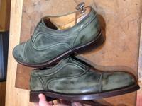 靴の染め替え《黒染めJ.M.WESTON》作業経過② - Shoe Care & Shoe Order 「FANS.浅草本店」M.Mowbray Shop