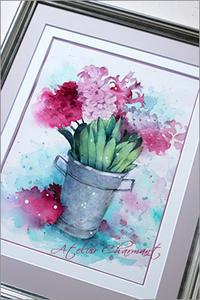 第9回日本透明水彩会 - Atelier Charmant のボタニカル・水彩画ライフ