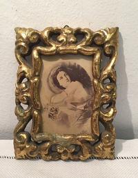 透かし彫り木製金彩小額880 - スペイン・バルセロナ・アンティーク gyu's shop