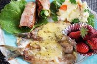 ■ワンプレート朝ご飯【イワシのチーズ焼き/菜の花巻きベーコンソテー/ポテトサラダ他】 - 「料理と趣味の部屋」