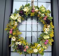自家製花材で春のリース作り - M's Factory