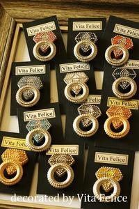 Diamond Pin batch がずら~り - 神戸インテリアコーディネーターのグルーデコ®教室☆Vita Felice☆(JGA認定校)