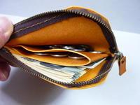 ワンポイント買物・ミニ財布・・L字 fastener - 革小物 paddy の作品