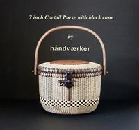 7inch Cocktail Purse with black cane - handvaerker ~365 days of Nantucket Basket~