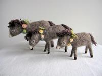 小さなロバさん。 - こひつじ的生活~羊毛フェルトで作る小さな世界