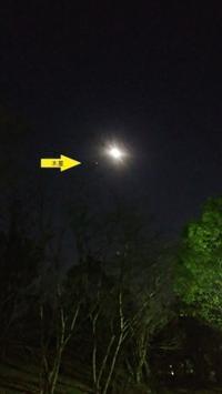 3月27日「月と木星」 - がちゃぴん秀子の日記