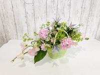 かごを使って☆ - Flower Days ~yucco*のフラワーレッスン&プリザーブドフラワー~