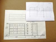 一本のクルミの原木~チェスト - 家具工房モク・木の家具ギャラリー 『工房だより』