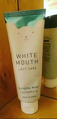 「ホワイトマウス」乳酸菌と重曹の力で、歯周病をデンタルケア。 - 初ブログですよー。