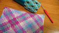 コットンプーリングで編む♪ - 空色テーブル  編み物レッスン