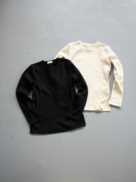 THE HINOKIOrganic Cotton Broad Stitch Smooth L/S T-Shirt (LADIES ONLY) - 『Bumpkins putting on airs』