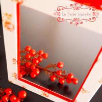 『壁かけミラー』 - カルトナージュ教室 ~ La fraise blanche ~