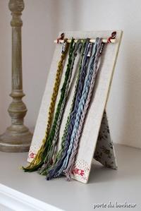 刺繍糸の収納 - A partir d'une seule piece  カルトナージュで私だけの空間創り