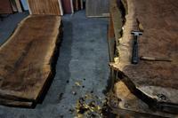 クラロウォルナット一枚板皮剥ぎ - SOLiD「無垢材セレクトカタログ」/ 材木店・製材所 新発田屋(シバタヤ)
