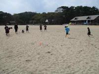 20190330_砂浜練習 - 日出ミニバスケットボール