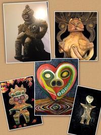 いにしえの縄文土偶アート作品展 - ナチュラル キッチン せさみ & ヒーリングルーム セサミ