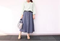 DECOY:リネンシャツ×デニム見えスカート - クロスプラスブログ